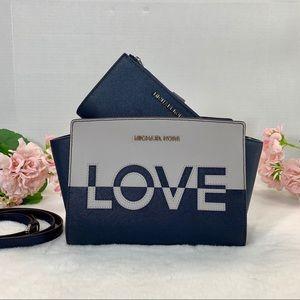Michael Kors Selma Crossbody Wristlet Set
